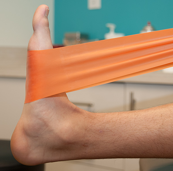 Calf stretches - one of the recommended treatment for plantar fasciitis.